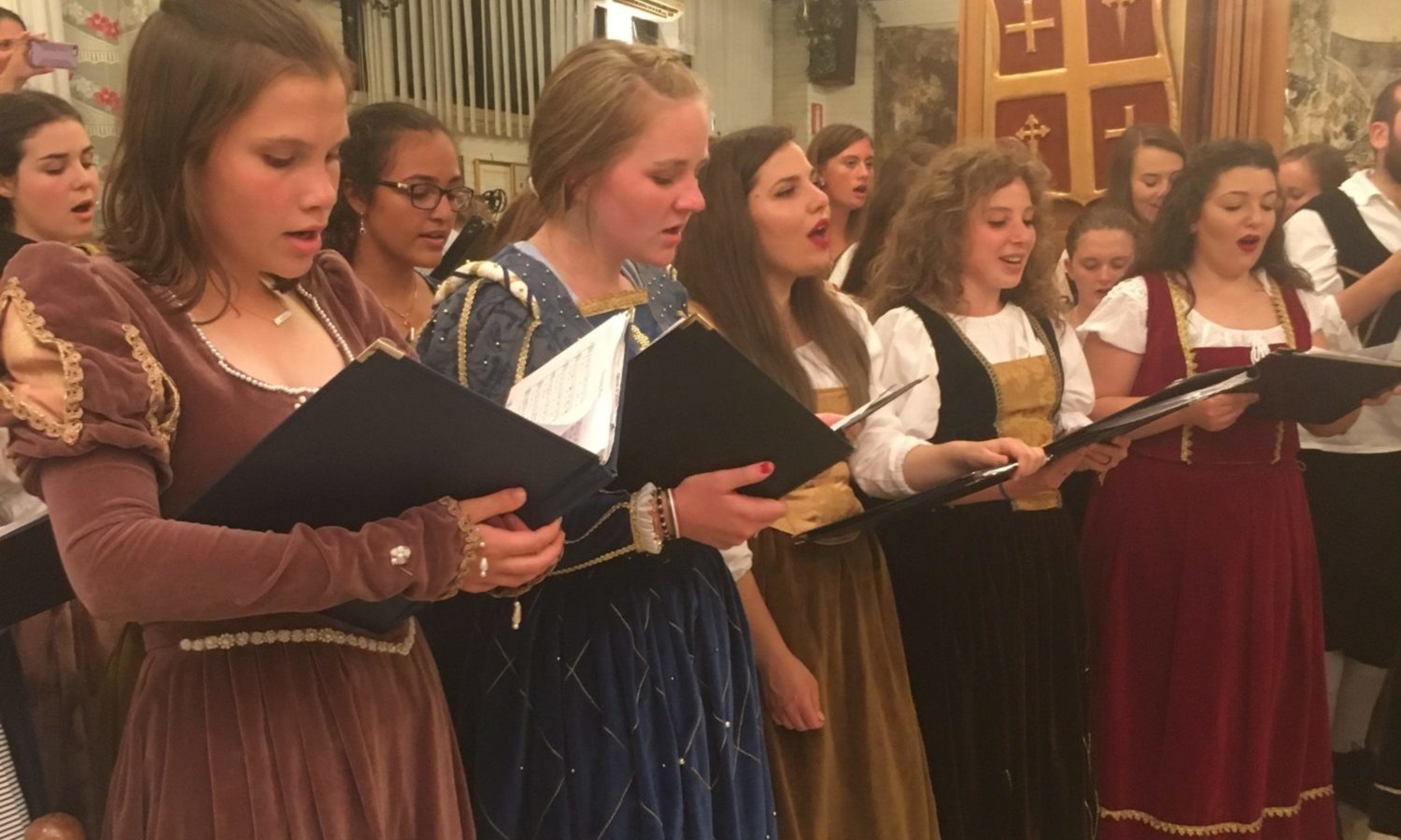 Sing the Madrigals in renaissance costume