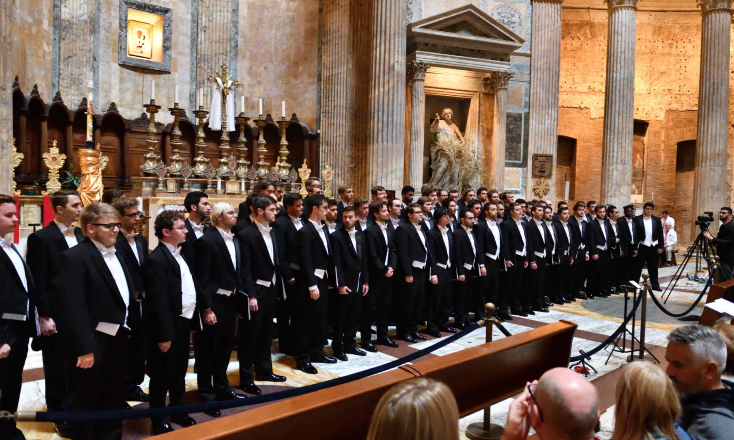 Formal concert at the major churches in Rome, Florence, Venice